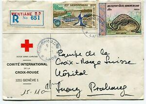 Laos regist. cover Vientiane to Luang Prabang 1972 s/scans