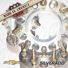 "4 USA MADE Chevy Silverado HUB CENTRIC Wheel Adapters / 2"" Spacers 8 Lug 8x180"