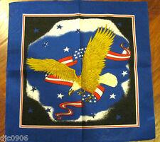 American Eagle US Flag Red,White, &Blue Bandana Head Wrap Scarf Wristband-New!