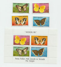 Turkey 1988 STAMPS Butterfly BUTTERFLIES MNH MS POSTAL HISTORY