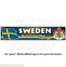 SWEDEN Swedish Flag-Coat of Arms Konungariket Sverige 180mm Vinyl Sticker, Decal