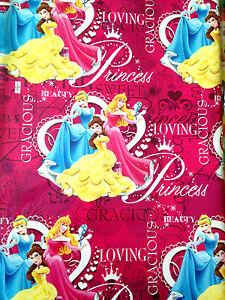 2 X Disney Princess wrapping paper 280 mm X 500mm