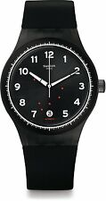 Swatch Originals Sistem 51 Gentleman Black Swiss Automatic Quartz Watch SUTF400