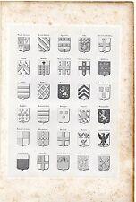 10/ ARMORIAL DE PICARDIE, D'ARTOIS ET DE FLANDRE planche 30 Blasons 1843