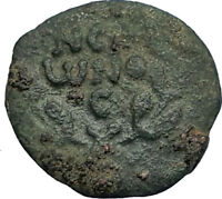 Biblical Jerusalem Saint Paul NERO Time PORCIUS FESTUS Ancient Roman Coin i67757