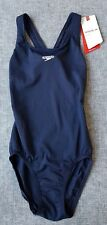 SPEEDO Girls Endurance Leaderback 1PC Navy Size 10 Brand with tags