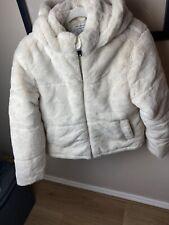 Primark Faux Fur Luxury Hooded Coat Age 10-11