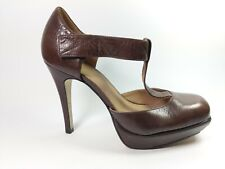 Topshop Brown Leather High Heel Shoes Uk 6 Eu 39