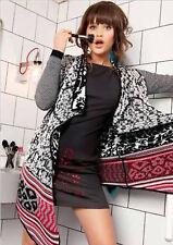 New Desigual Digan Cardi/Cardigan Grey/Black/White/Red Size M AU12-14 RRP$269