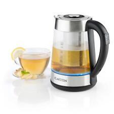 Klarstein Wasserkocher 2-in-1 Teekocher Wasser Brüher 1,7 L LED Edelstahl Glas