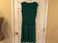 American Living Women's Christmas Green Sleeveless Career Dress Size 12 Wear to
