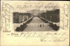 Wien AK 1898 Schloss Belvedere Parkanlage Park Kinder Allee n/ Bamberg A-Stempel