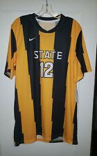 Nike Short Sleeve Jersey #12 Black/Gold Size Large New