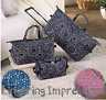 3 PC Luggage Set Suitcase Tote Rolling Duffel Bag Geo-Circles Floral Medallion