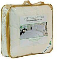 HealthyLine Silk Filled Summer Comforter, Light Weight, 300TC Cotton