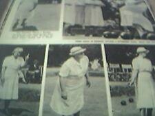 magazine ephemera - 1952 article bowls bowling worthing beach park ladies
