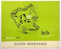 1961 Vintage Breakfast Menu THE SHERMAN HOTEL - COFFEE SHOP Chicago IL Cow Jump