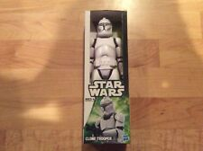 """Star Wars 2012 Collection 12"""" White CLONE TROOPER MIB Rare Army Troop Build"""