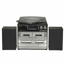 Stereoanlage mit CD, LP, Kassettenrecorder, DAB Radio, USB, SD Denver MRD-166