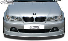 RDX Front alerón bmw e46 Coupe Cabrio 2003+ alerón labio enfoque Front delante