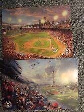Thomas Kinkade-Nascar Thunder &Fenway Park-Postcard Lithograph-Dealer-Sports
