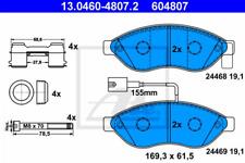 Bremsbelagsatz, Scheibenbremse für Bremsanlage Vorderachse ATE 13.0460-4807.2