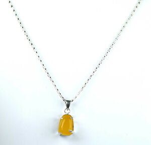 Fancy Yellow Sapphire Natural Gems Men's Pendant 33.20 Ct Ideal Gift For Someone