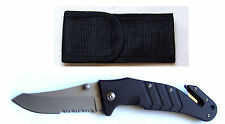 Fire Fighter Knife Master black mit Gürteletui quer Messeretui Feuerwehr Knife