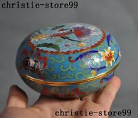 Marked Old Chinese bronze Cloisonne Enamel gilt fish goldfish Jewelry box boxes