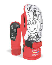 Level Handschuhe Skihandschuhe Pop-Art JR Mitt rot Membra-Therm Plus