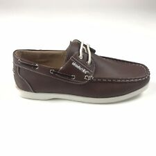 Akademiks Mens Size 9.5 MICK 07 Tan Brown Boat Shoes Loafers