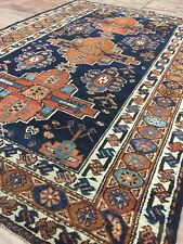 Persian Old Antique Handmade Mazdaghan Rug,with Date,wool&cotton