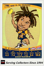 2011 AFL Teamcoach Cards Magic Wild Card MW16 Nic Naitanui (West Coast)