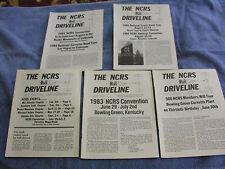 NCRS Driveline - 1983  - 5 Issues Jan-Feb, Mar-Apr, May-June, July-Aug & Nov-Dec