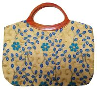 Indian Purse Ladies Vintage Traditional Embroidery  Hand Clutch Bag CL029TURQ