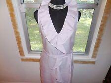 Talbots NEW lavender ruffle linen casual beachy dress sz 14 NWOT