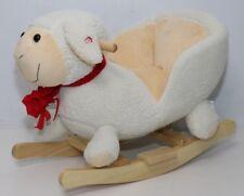 Bartl Schaukelpferd mit Lehne & Kopf aus Stoff Baby Babyschaukelpferd I'm Toy Holzspielzeug