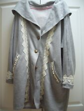 PRE-OWNED PEARL & LACE LONG JACKET WITH HOOD FROM JAPAN