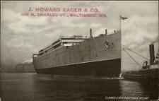 Ship Launching Cunard Line AQUITANIA - J Howard Eager Co Baltimore Postcard