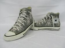 CONVERSE All Star Chuck Taylor High Top Trainers, Grey, Pink, UK 5, Eur 37.5