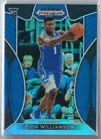 ZION WILLIAMSON 2019-20 PANINI PRIZM DRAFT PICKS #64 BLUE REFRACTOR RC ROOKIE