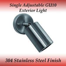 1 Light Single Adjustable GU10 External Wall Light in 304 Stainless Steel
