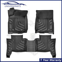 3PC Floor Mats 3D Molded Linears All Weather For 2016-2021 Toyota Tacoma TRD PRO