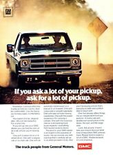 1976 GMC Sierra Pickup Truck Original Advertisement Print Art Car Ad J976
