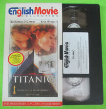 VHS film TITANIC Leonardo Di Caprio Kate Winslet inglese ENGLISH (F67) no dvd