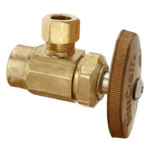 BrassCraft 1/2 in. Nominal Sweat Inlet x 3/8' O.D. Compression Outlet Valve