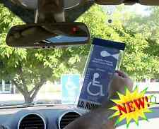 Windshield Tag Handicap Placard Protective Holder with Suction Cup Easy ON & OFF