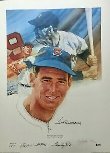 """Ted Williams signed """"Home Run"""" Litho, Red Sox- Ltd Ed 501 Beckett Authenticated"""