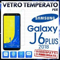 Pellicola in VETRO TEMPERATO per SAMSUNG GALAXY J6 PLUS 2018 Proteggi Schermo