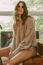 NWT Spell & The Gypsy Collective Knit V Neck Fuzzy Jumper Sweater M/L